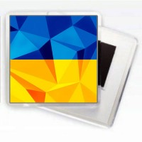 Магніт жовто-блакитний (стилізований)