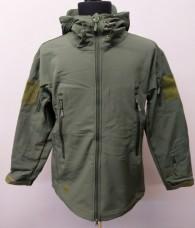 Купить Куртка cофтшел Shark Skin Олива  в интернет-магазине Каптерка в Киеве и Украине