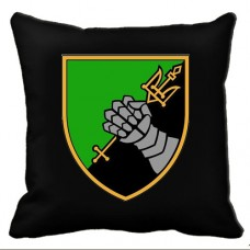 Купить Декоративна подушка 12 Окремий Танковий Батальон (чорна) в интернет-магазине Каптерка в Киеве и Украине