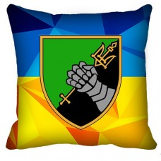Декоративна подушка 12 Окремий Танковий Батальон (жовто-блакитна)