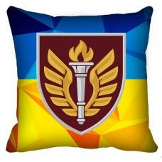 Декоративна подушка 199 Навчальний Центр ДШВ (жовто-блакитна)