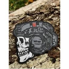 Шеврон «Varvar skull» ПВХ чорний