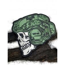 Шеврон «Varvar skull» ПВХ олива