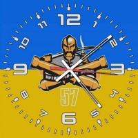 Годинник БрАГ 57 ОМПБр (жовто-блакитний)