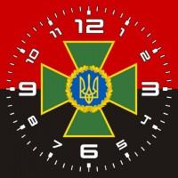 Годинник ДПСУ (червоно-чорний)