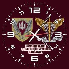 Годинник Командування ДШВ (марун з написом)