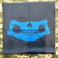 Шарф-труба з черепом (синій)