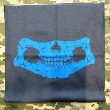 Купить Шарф-труба з черепом (синій) в интернет-магазине Каптерка в Киеве и Украине