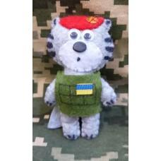М'яка іграшка Котик-Артилерист