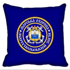 Декоративна Подушка Морська Охорона ДПСУ Маріупольський Загін (синя)