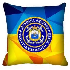 Декоративна подушка Морська Охорона ДПСУ Маріупольський Загін (жовто-блакитна)