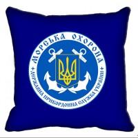 Декоративна подушка Морська Охорона ДПСУ (синя)