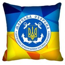 Декоративна Подушка Морська Охорона ДПСУ (жовто-блакитна)
