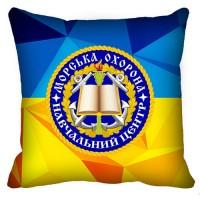 Декоративна Подушка Морська Охорона ДПСУ Навчальний Центр (жовто-блакитна)