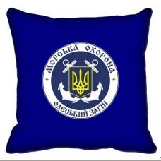Декоративна Подушка Морська Охорона ДПСУ Одеський Загін (синя)