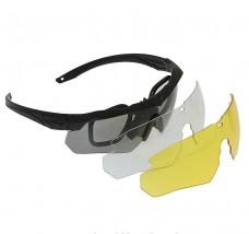 Окуляри ESS Crossbow 3 лінзи зі вставками під діоптрії
