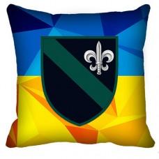 Декоративна подушка 140 ОРБ МП (жовто-блакитна)