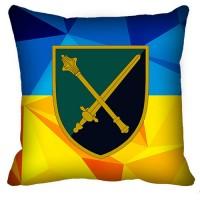 Декоративна подушка Командування Морської Піхоти (жовто-блакитна)