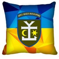 Декоративна подушка 54 ОМБр (жовто-блакитна)