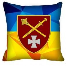 Декоративна подушка ОК Захід (жовто-блакитна)