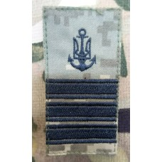 Погон ВМСУ Капітан III рангу (піксель чорна нитка)