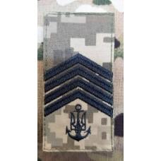 Погон ВМСУ Головний Старшина (піксель чорна нитка)