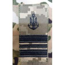 Погон ВМСУ Капітан-Лейтенант (піксель чорна нитка)