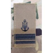 Погон ВМСУ Лейтенант (койот чорна нитка)