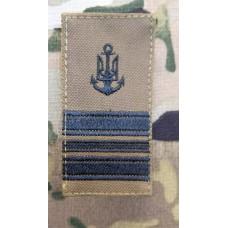 Погон ВМСУ Капітан-Лейтенант (койот чорна нитка)