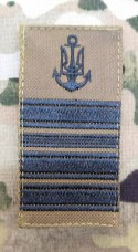 Погон ВМСУ Капітан II рангу (койот чорна нитка)