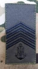 Погон ВМСУ Головний Старшина (олива чорна нитка)