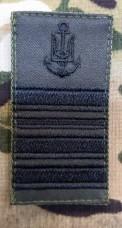 Погон ВМСУ Капітан II рангу (олива чорна нитка)