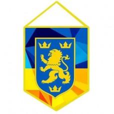Вимпел Галичина (жовто-блакитний)