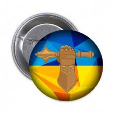 Значок Танкові Війська (жовто-блакитний)
