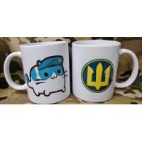 Керамічна чашка Котик Муррпіх (Тризуб Морської Піхоти)