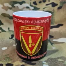 Керамічна чашка 40 ОАБр (червоно-чорна)