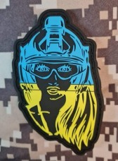 PVC Патч Тактична Україночка
