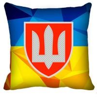 Декоративна подушка ВСП (жовто-блакитна)