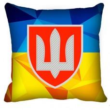 Купить Декоративна подушка ВСП (жовто-блакитна) в интернет-магазине Каптерка в Киеве и Украине
