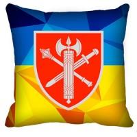 Декоративна подушка ВСП Головне Управління (жовто-блакитна)