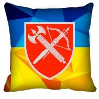 Декоративна подушка ВСП Центральне Управління (жовто-блакитна)