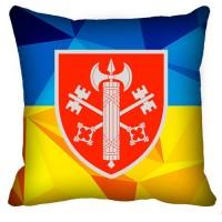 Декоративна Подушка ВСП 307 Дисциплінарний Батальйон (жовто-блакитна)