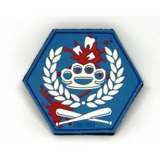 PVC патч Аргументи (синьо-білий)