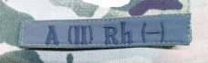 Нашивка група крові A (II) Rh (-) Олива (згідно наказу 238)