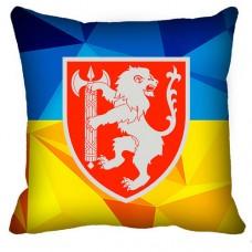 Декоративна Подушка ВСП Західне Територіальне Управління (жовто-блакитна)