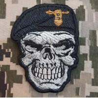 Нашивка Череп в береті Танкові війська ЗСУ