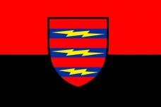 Прапор 3 Окрема Бригада Зв'язку (червоно-чорний)