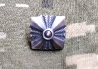 Зірка на погон військовослужбовців ЗСУ срібло-патина