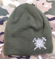 Шапка з вишивкою Едельвейс Гірська Піхота (олива)
