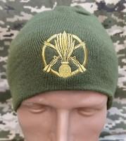 Шапка з вишивкою Піхота ЗСУ олива